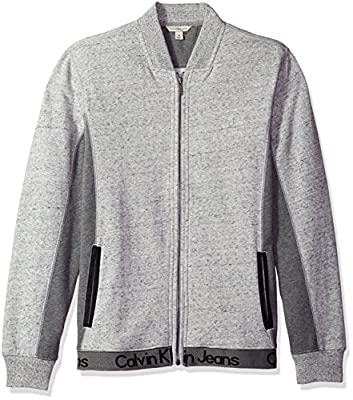 Calvin Klein Jeans Men's Ckj Logo Full Zip Sweatshirt
