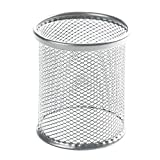 Youcoco Round Mesh Pen Holder Organizer Cosmetic Pencil Cup Holder Container Desktop