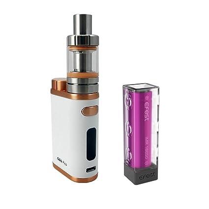 Auténtico Eleaf Istick Pico Cigarrillo electrónico 75W Kit de inicio con 1 X EFEST 3000mAh 18650 Batería (Blanco Bronce) Sin Tabaco y Sin Nicotina