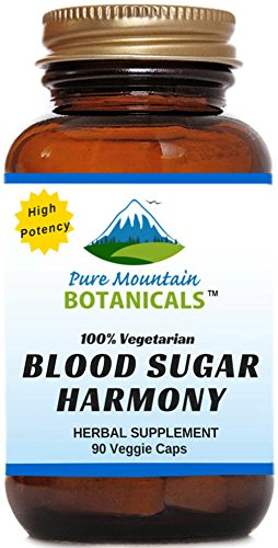 Blood Sugar Harmony 90 Kosher Capsules with Organic Cinnamon Bark, Nopal Cactus, Gymnema Herb, Fenugreek Seed & Chromium (Sugar Botanicals)