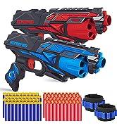 POKONBOY 2 Pack Blaster Toy Guns for Boys Compatible with Nerf Guns Darts, 6-Dart Rotating Barrel...