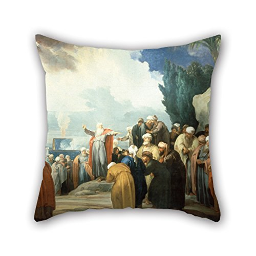 Oil Elect - Oil Painting Jacob De Wit - Moses Elects The Council Of Seventy Elders Pillow Covers 18 X 18 Inches / 45 By 45 Cm Best Choice For Lounge,valentine,birthday,floor,her,christmas With Each Side