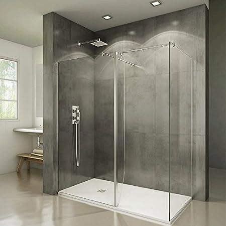 Mampara de ducha con contraventana giratoria – Screen, transparente, 108 cm: Amazon.es: Hogar