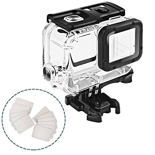 Impact Imagery Clear Underwater Housing for Gopro Hero 5 & 6 with Anti Fog Inserts – Protective Waterproof Dive Shell – 40m Deep Water Scuba Case by Impact Imagery