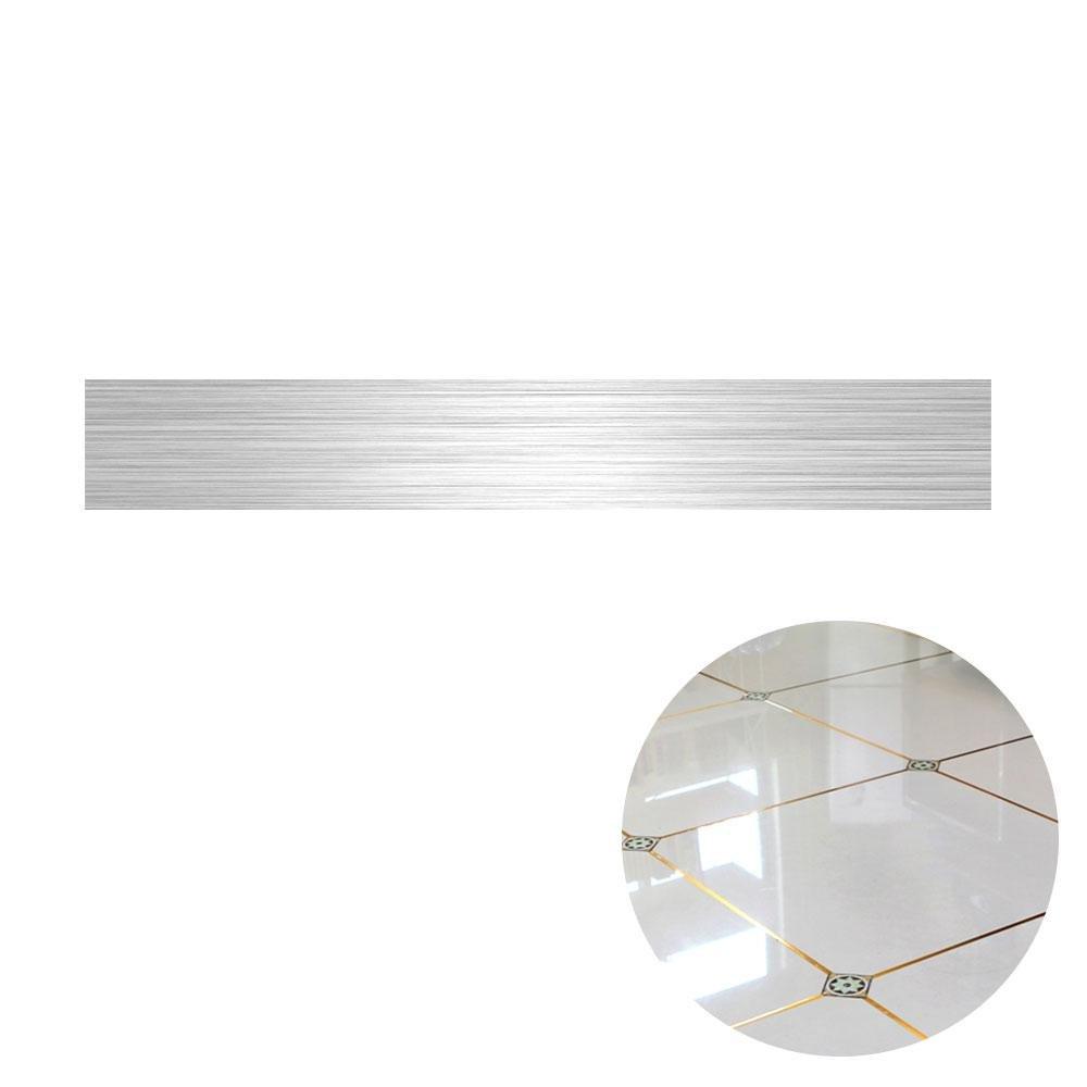 AOLVO Adhesivo Decorativo para Piso con Diseñ o de Cinta de Calavera, Color Dorado y Plateado, Bright Gold, 0.5cm*5000cm