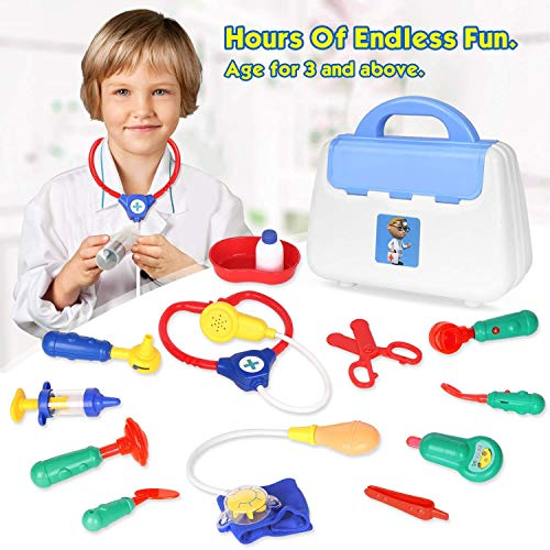 HANMUN Toddlers Doctor Kits Kids Pretend Play Toy Unique Doctor and Nurse Set Role Play Toy with Handy Carrying Case Over 3 Years Old Heavy Duty from HANMUN