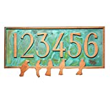 Birds on a Wire Plaque - 17x8.5 - Copper Verdi Metal Coated Sign