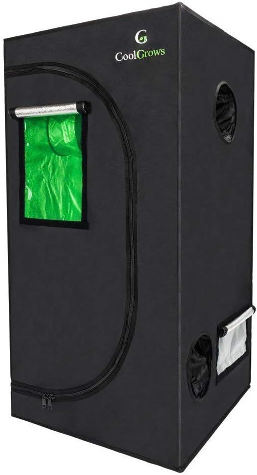 CoolGrows 2x2x4 Feet Small Indoor Mylar Hydroponics Grow Tent 24 x 24 x 48