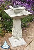 Fontana Solare programmabile con luci - Vasca per uccelli Giglio di primavera