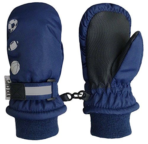 nice-caps-kids-thinsulate-waterproof-reflector-winter-snow-ski-mittens