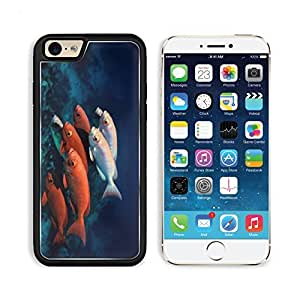 Fish Underwater World Ocean Coral Seabed Apple iPhone 6 TPU Snap Cover Premium Aluminium Design Back Plate Case Customized Made to Order Support Ready Liil iPhone_6 Professional Case Touch Accessories Graphic Covers Designed Model Sleeve HD Template Wallpaper Photo Jacket Wifi Luxury Protector Wireless Cellphone Cell Phone