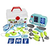 Best Choice Products 21-Piece Light Up Pretend Play Doctor Set w/X-Ray Machine and Carrying Case