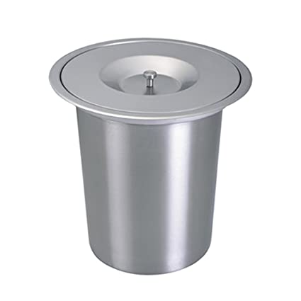 Amazon Com Embedded Trash Cans Stainless Steel Kitchen Countertops