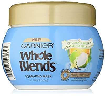 Garnier Whole Blends Hydrating Mask with Coconut Water & Vanilla Milk Extracts, 10.1 Fluid Ounce
