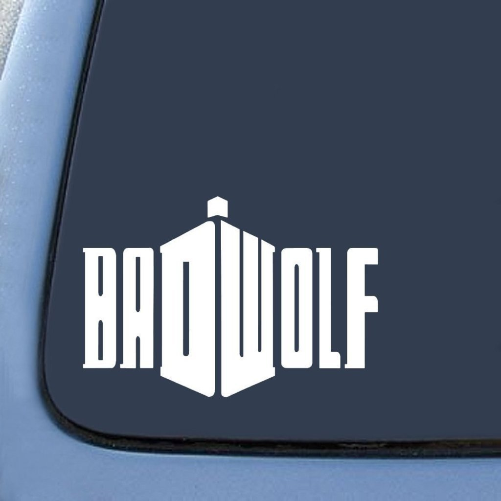 CCI056 Badwolf Doctor Who Sticker Decal Notebook Car Laptop 7 White