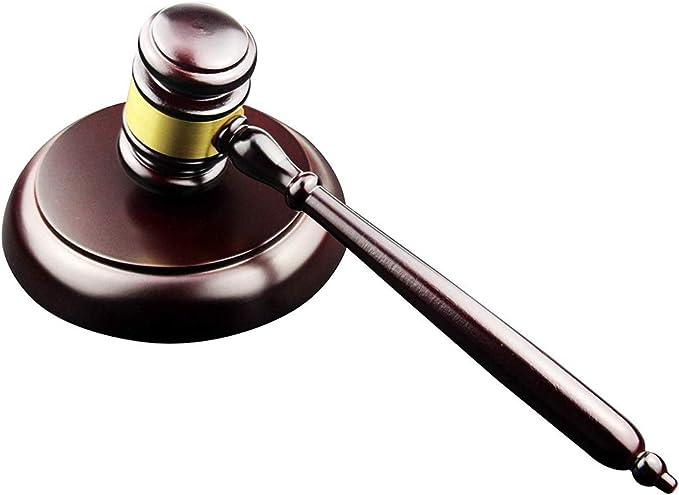 Hölzerner handgemachter Hammer-Sound-Block für Rechtsanwalt Judge Auction Sale