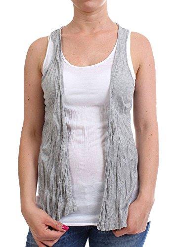 MOD-femme top sU13 tO078/blanc/gris)