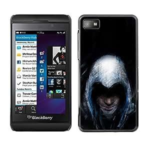 EJOY---Cubierta de la caja de protección la piel dura para el / Blackberry Z10 / --Asesinos Grunge