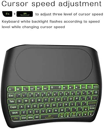 Calvas 3 in 1 D8 2.4G Wireless Mini Keyboard Air Mouse Touchpad Controller w//Backlight for Android TV Box Mini Keyboard New Arrival