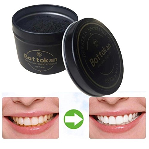 Teeth Whitening Powder Tooth Polish,SMYTShop Organic Activated Carbon Coco Tooth Whitener and Stain Remover for Teeth (Gold Box)