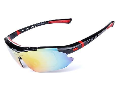 Aili - Gafas de Ciclismo polarizadas con 5 Lentes y Gafas de ...