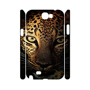 Samsung Galaxy Note 2 N7100 Plum flower leopard 3D Art Print Design Phone Back Case Customized Hard Shell Protection MN033884