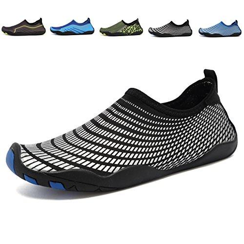 ANLUKE Wasser Schuhe Barfuß Yoga Socken Slip-On für Männer Frauen Kinder Schwarz