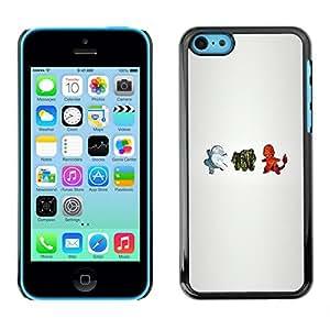LECELL--Funda protectora / Cubierta / Piel For iPhone 5C -- Personajes P0kemon --