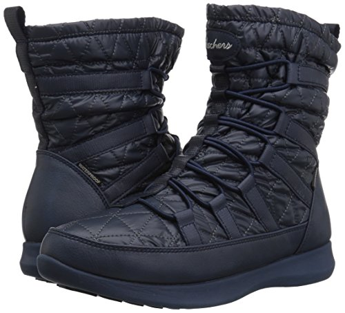 Pictures of Skechers Women's Boulder Snow Boot White/Black 8 M US 4