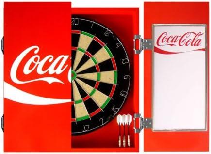 Coca Cola Cabinet Dart Board Set Amazon Co Uk Sports Outdoors