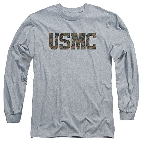 US Marine Corps USMC Camo Fill Unisex Adult Long-Sleeve T Shirt For Men and Women