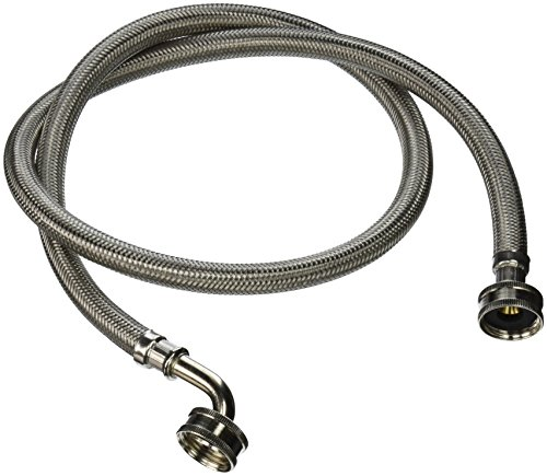 Certified Appliance WM48SSL2PK C003414 Braided  Washing Machine Connectors with Elbow 4-Feet, 2-Pack