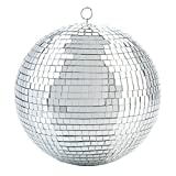 Kicko Mirror Disco Ball - Cool and Fun Silver Hanging Party Disco Ball – 8 Inch Party Decorations, Party Design, Dance and Music Festivals (Color: Silver)
