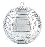 Mirror Disco Ball - Cool and Fun Silver Hanging Party Disco Ball – 8-Inch Party decorations, Party Design, Dance and Music festivals- By Kidsco