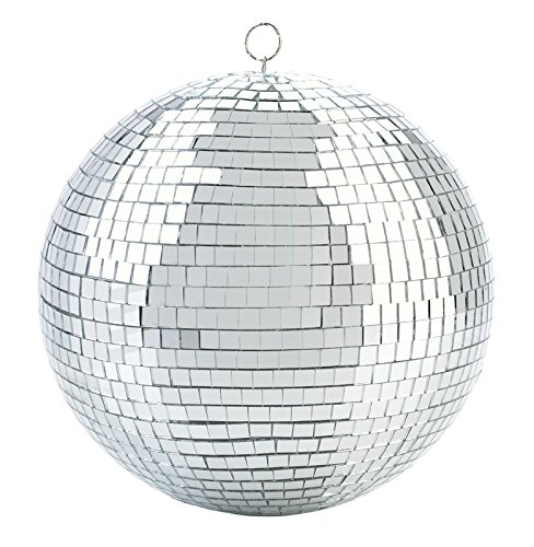 Cool and Fun Silver Hanging Party Disco Ball – 8-Inch Party decorations, Party Design, Dance and Music festivals- By Kidsco (8 Inch Disco Ball)