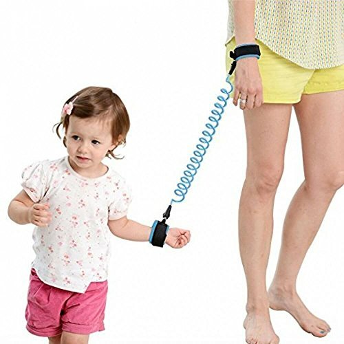 Child Safety Leash | Keep Your Little One Safe | Anti Lost Wrist Link | Walking Belt Hand Straps Tether Harness | For Baby Boys Girls Toddlers Children & Kids (Blue, 2.5m)