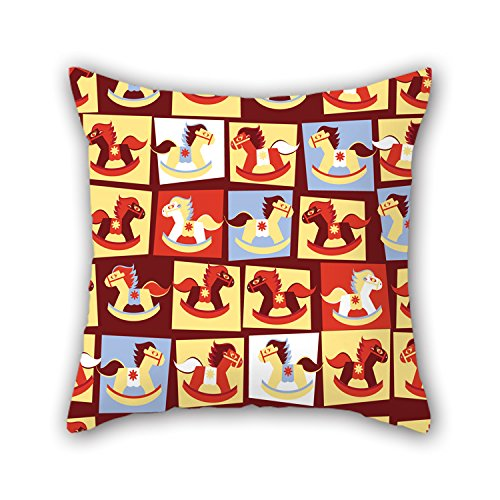 PILLO Horse Throw Pillow Covers 18 X 18 Inches / 45 By 45 Cm For Indoor,monther,wife,lover,festival,dining Room With 2 Sides