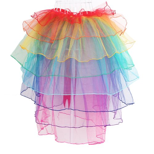 Tutu Bustle Queue Lingerie Sexy Jupe Soire Danse Bubble Dentelle Longue Jupe Rainbow HMMJ Tulle Clubwear Femmes wgUqTxTO