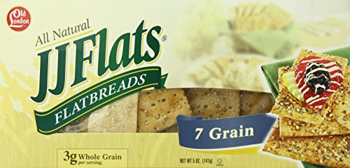 Old London JJ Flats Flatbreads, 7 Grain, 5 Ounce (Pack of 12)