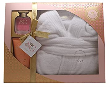 ae98c31206 Image Unavailable. Image not available for. Color  Ladies Luxury Bathrobe  Robe Pamper Gift Set For Her Dressing Gown Xmas ...