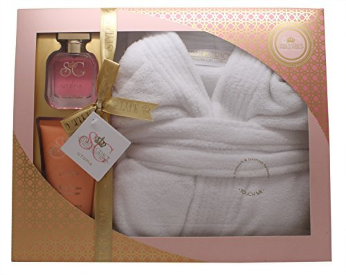 Ladies Luxury Bathrobe Robe Pamper Gift Set For Her Dressing Gown Xmas Gift New by Style & Grace