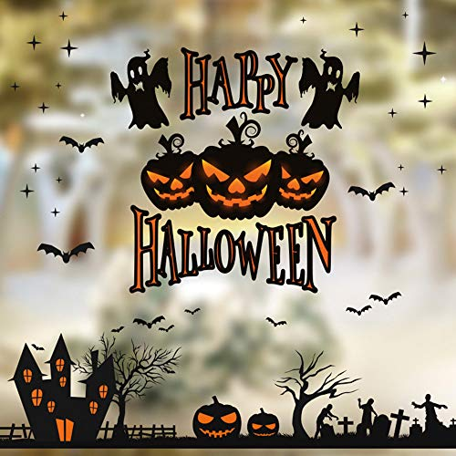 OTTATAT Wall Stickers for Bathrooms 2019,Halloween Wall Vinyl Sticker Pumpkin Tree Removable Home Window Decor Mural Tool Easy to Peel Lingerie Party, Holiday Gift for Mother Free Deliver Clearance
