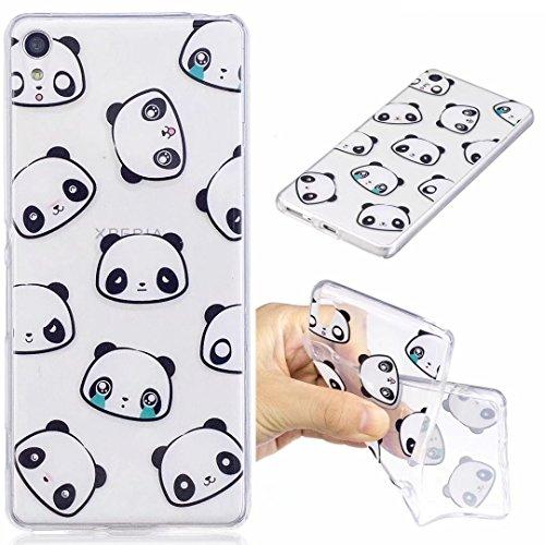 Funda iPhone 6/6s silicona suave TPU transparente Claro Animal y flor delgado contraportada Cubierta protectora por JOYTAG-Coala Panda
