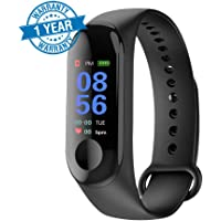 ARG Health Care M3 Band Bluetooth 4.0 Sweatproof Smart and Sleek Fitness Wristband with Heart Rate Monitor Tracker (Multi Colour)