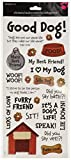 Sandylion Dog Phrases Sticker, 5.5 by 12-Inch, Clear