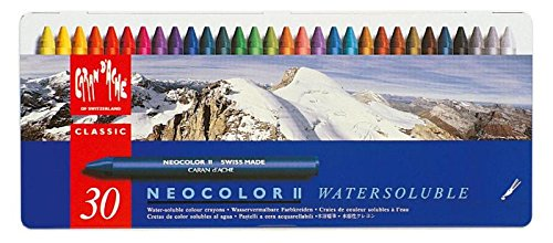 Metal Accents Scrapbooking (Caran d'Ache Classic Neocolor II Water-Soluble Pastels, 30 Colors)