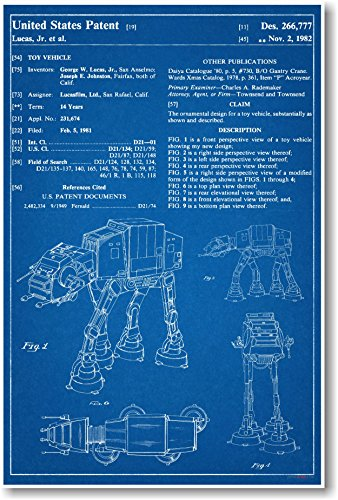 Posterenvy star wars at at patent invention blueprint for Buy blueprints online