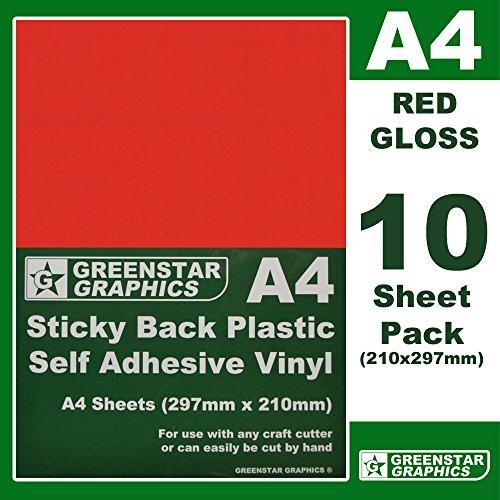 A4 Sheet Self Adhesive Vinyl Sticky Back Plastic Craft Robo Sign Vinyl Cutter