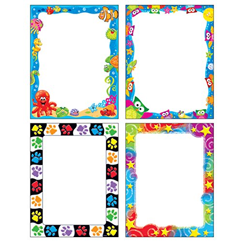 Stars Terrific Papers - Trend Enterprises Inc T-11921 Fun Friends Terrific Papers Variety Pack, 200 Sheets