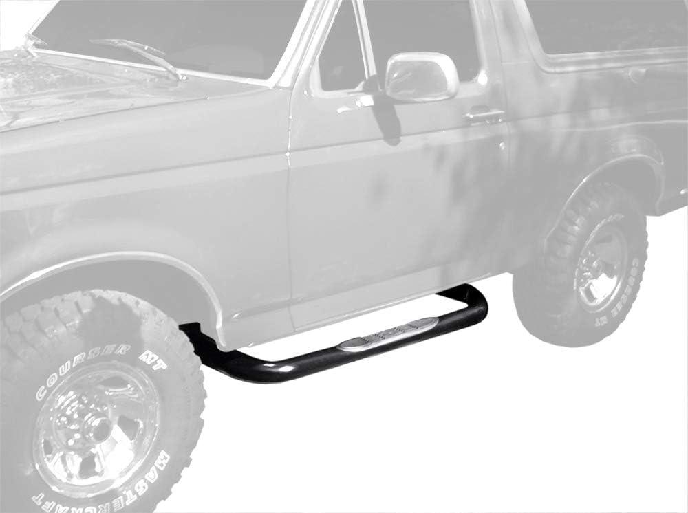 2pcs with Mounting Bracket Kit Tyger Custom Fit 80-96 Bronco //F-Series//Regular Cab Black 3 Side Step Rails Nerf Bars Running Boards Full Size